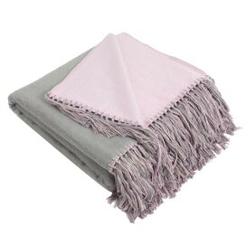 Elizabeth Bamboo Throw in Gray & Lavender