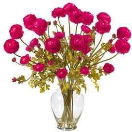 Faux Pink Ranunculus