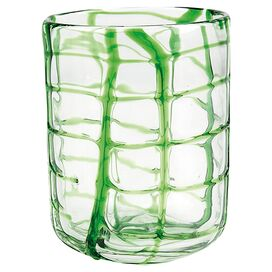 Abstract Rocks Green Glass (Set of 4)