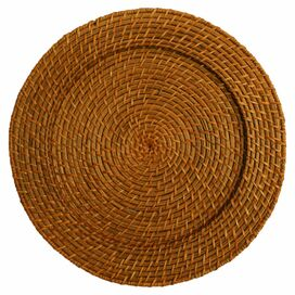 Casey Rattan Charger Plate (Set of 4)