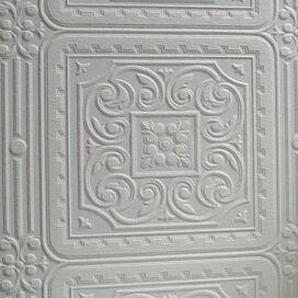 Damask Embossed Wallpaper