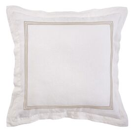 Kelly Embroidered Euro Sham in Ivory & Prairie