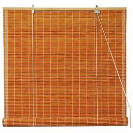Burnt Bamboo Roller Blind