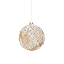 Beaded Gold Ball Ornament