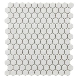 Porcelain Hexagon Mosaic Tile (Set of 10)