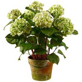 Faux Green Hydrangea