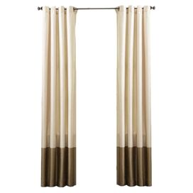 Prima Curtain Panel in Ivory & Taupe (Set of 2)