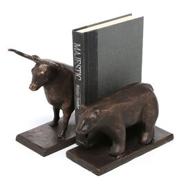 Bull & Bear Bookends (Set of 2)