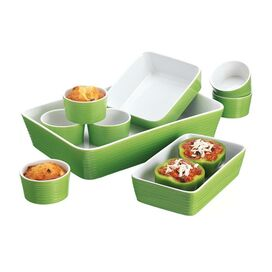 9-Piece Veronica Bakeware Set in Lime