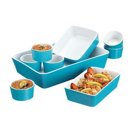9-Piece Veronica Bakeware Set in Turquoise
