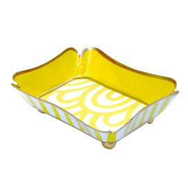Cassie Trinket Tray in Yellow