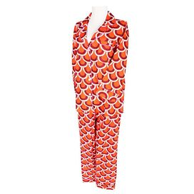 Scallops Pajama Set in Orange