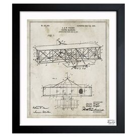 Wright Flying Machine Framed Print, Oliver Gal
