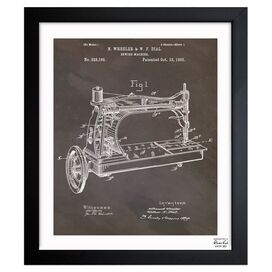 Sewing Machine Framed Print, Oliver Gal