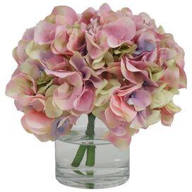 Faux Pink Hydrangea