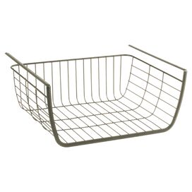 Georgia Under-Shelf Basket in Satin Nickel