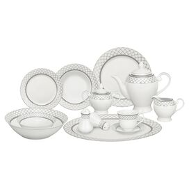 57-Piece Verona Porcelain Dinnerware Set