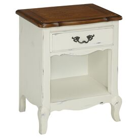 French Countryside Nightstand in White