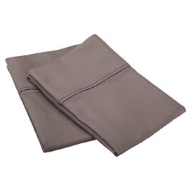 800 Thread Count Pillowcase Set in Grey (Set of 2)