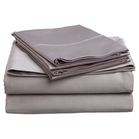 Colleen Egyptian Cotton Sheet Set in Gray