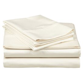 Colleen Egyptian Cotton Sheet Set in Ivory