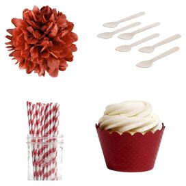 Cherry Dessert Party Kit in Blossom Red