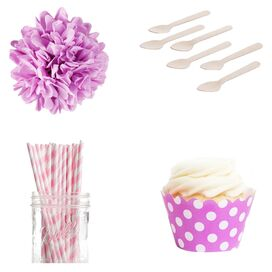 Cherry Dessert Party Kit in Blossom Pink