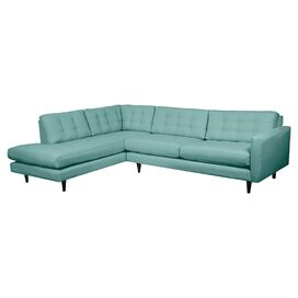 "Delano 120"" Tufted Sectional Sofa in Laguna"
