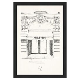 31 Rue Cambon Paris Framed Print, Oliver Gal