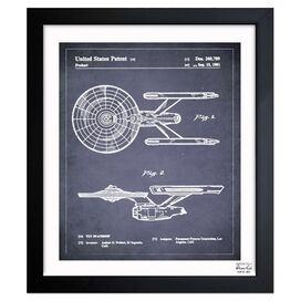Space Ship Framed Print, Oliver Gal