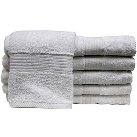 Hermosa Egyptian Cotton Hand Towel in White (Set of 6)