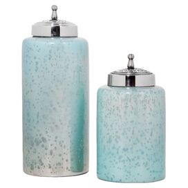 2-Piece Palais Canister Set in Turquoise