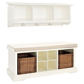 2-Piece Brennan Shelf & Bench Set