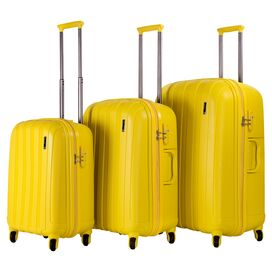 3-Piece Tilly Rolling Luggage Set in Yellow