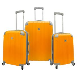 3-Piece Newport Rolling Luggage Set in Orange
