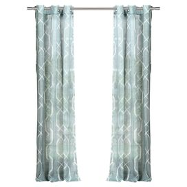 Arcadia Curtain Panel in Blue (Set of 2)