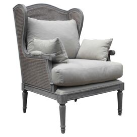 Denise Arm Chair in Gray