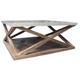 Vanna Coffee Table in Cerused Oak