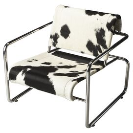 Sasha Cowhide Accent Chair