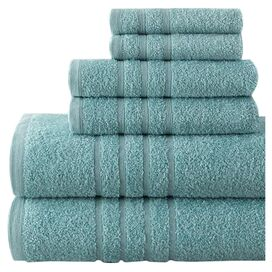 6-Piece Dana Egyptian Cotton Towel Set in Surf