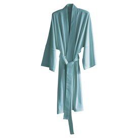 Kimono Organic Robe in Mineral Blue