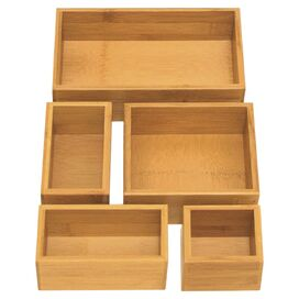 5-Piece Cheshire Bamboo Tray Set