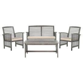 4-Piece Rocklin Acacia Outdoor Seating Group Set