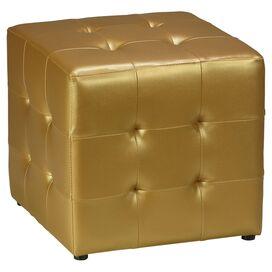 Apollo Tufted Ottoman in Gold