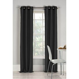 Justine Curtain Panel in Black (Set of 2)