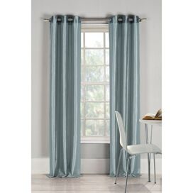 Justine Curtain Panel in Blue (Set of 2)