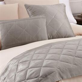 3-Piece Hara Bed Scarf Set in Platinum