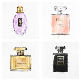 My Perfumes Canvas Print, Oliver Gal (Set of 4)