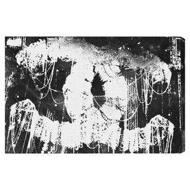 Hey Lolita Black Canvas Print, Oliver Gal