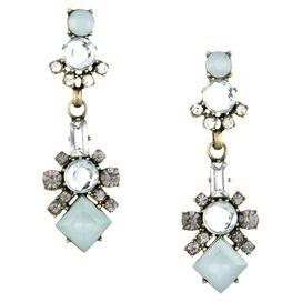 Astaire Drop Earrings in Blue